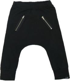 Black zipper baggy