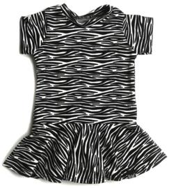 Zebra roes jurk