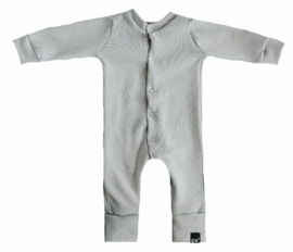 Mini knit grijs onesie (drukkers)
