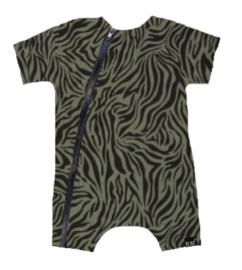 Tijger groen tshirt/ kort onesie
