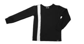 Zwart met wit streep verticaal sweater