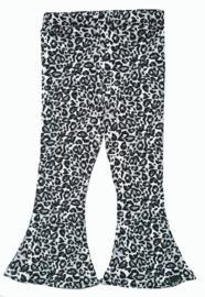 Flared broek panter grijs