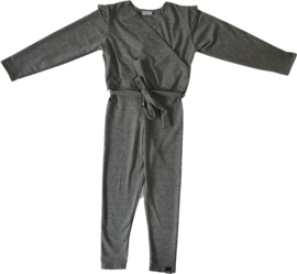 Donker grijs jumpsuit