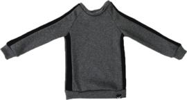 Donker grijs/zwart streep trui