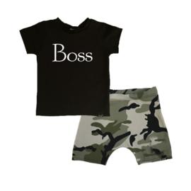 Boss/ camo groen korte baggy