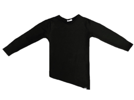 Zwart lang shirt