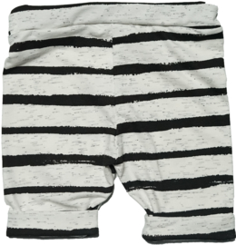 Zwart wit streep korte omslag broek