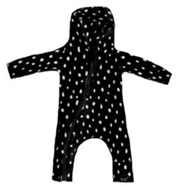 Dots zwart onesie