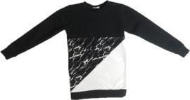 Marble/zwart/wit sweatshirt