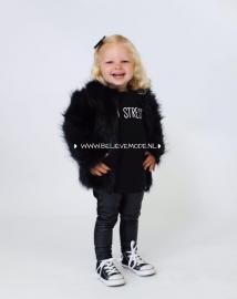 Black im. fur coat