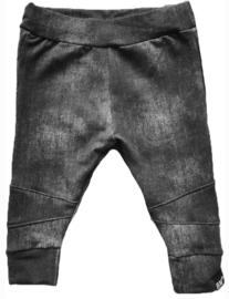 Denim zwart biker broek