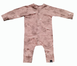 Flamingo roze onesie (drukkers)