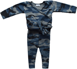 Camo blue jumpsuit