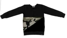 Camo groen / zwart sweater