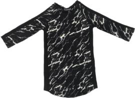 Marble met zwart streep jurkje + haarbandje