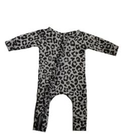 Panter grijs roes onesie (zonder capuchon)
