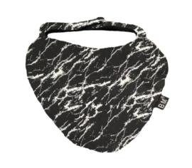 Zevertje zwart marble