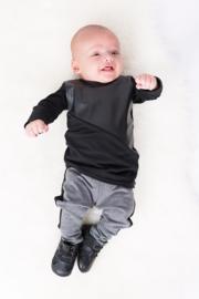 Black/leather longshirt