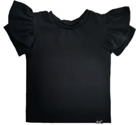 Zwart vleugel t-shirt