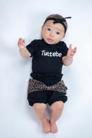Tuttebel/ zwart Panter bruin strik bloomer