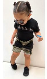 Attitude/ camo groen strik bloomer