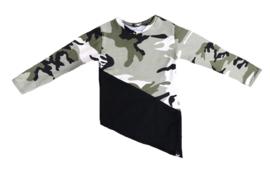 Camo groen/zwart lang shirt