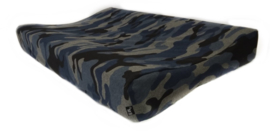 Camo blue changing pad cover