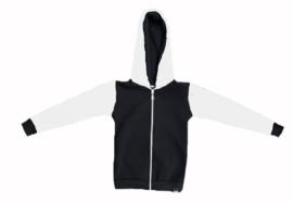 Zwart met wit vest