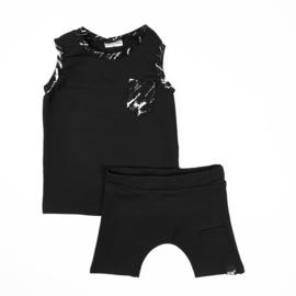 Black marble hemd/ black short