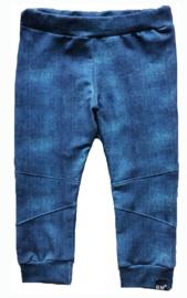 Denim blauw biker broek