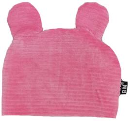 Roze rib beren muts