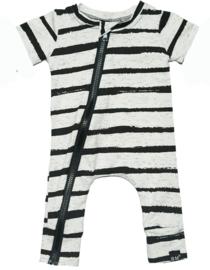 Zwart wit streep onesie