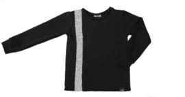 Zwart met grijs verticaal streep sweater