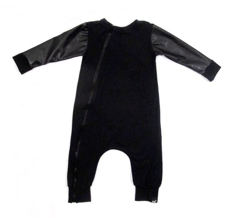 Black leather onesie