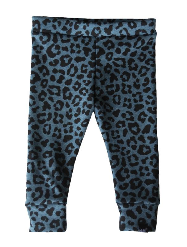 Panter blauw brushed legging
