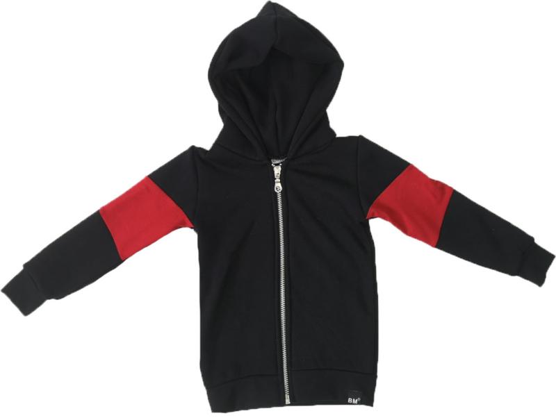 Zwart/rood vest