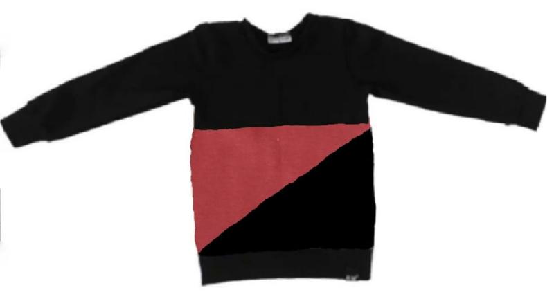 Roest/ zwart sweat shirt
