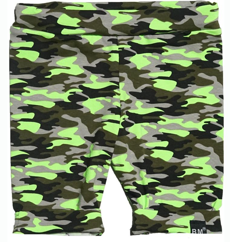 Camo groen korte omslag broek