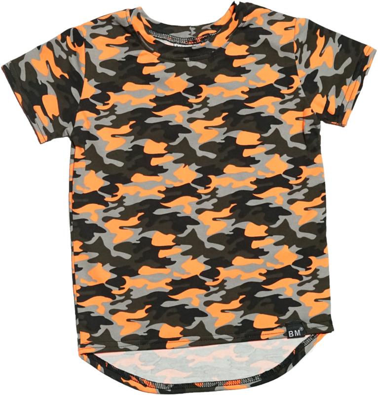 Camo oranje long t-shirt