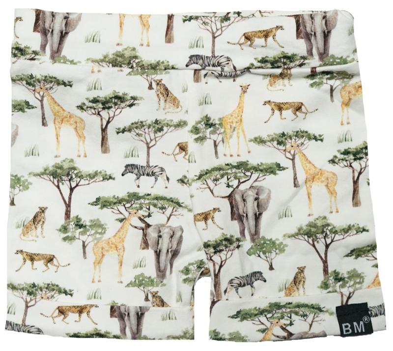 Olifant/ giraf korte omslag broek