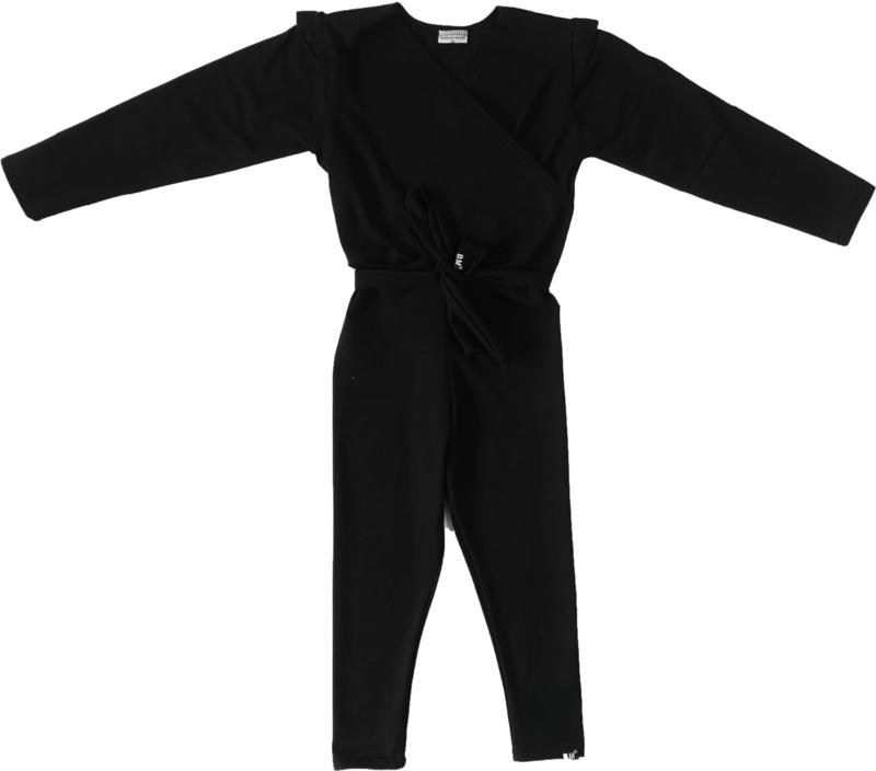 Zwart jumpsuit + gratis haarbandje