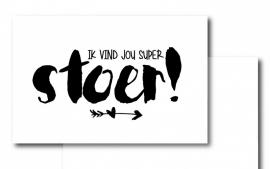 Minikaartje- Ik vind jou super stoer!