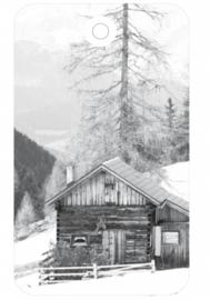 Label  - Houten huis