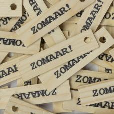 Houten label - Zomaar