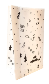 Paperbag-kerst holly jolly XM