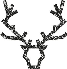 Hert- Zwart 35cm