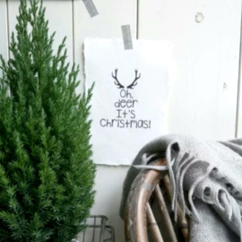 Kaart  A5-Oh deer it's Christmas