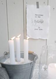 Kaart  A5-Christmas sparkle