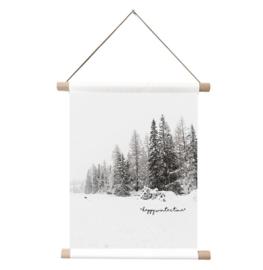 Textielposter-Winterbos