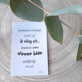 Minikaartje - ik vlieg uit